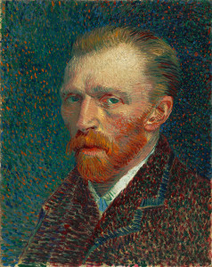 Vincent Van Gogh in un autoritratto